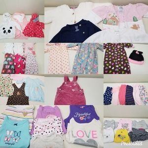 40 Baby Girl 3 Months Winter Lot Sleepers Jackets